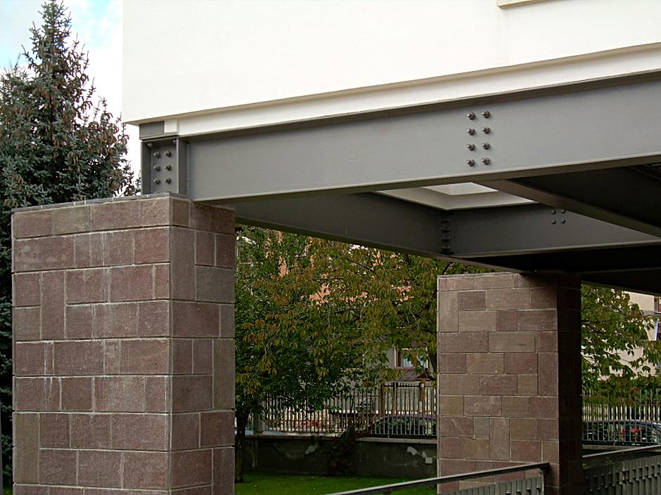 Dettaglio fotografico delle colonne